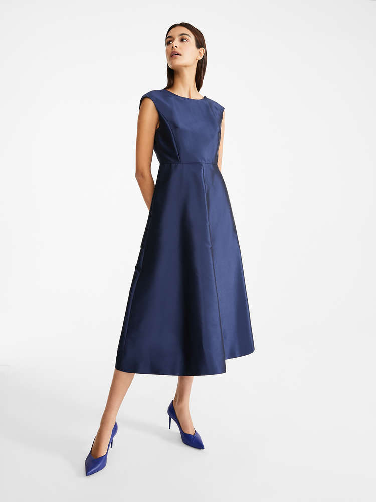 Cotton and silk twill dress