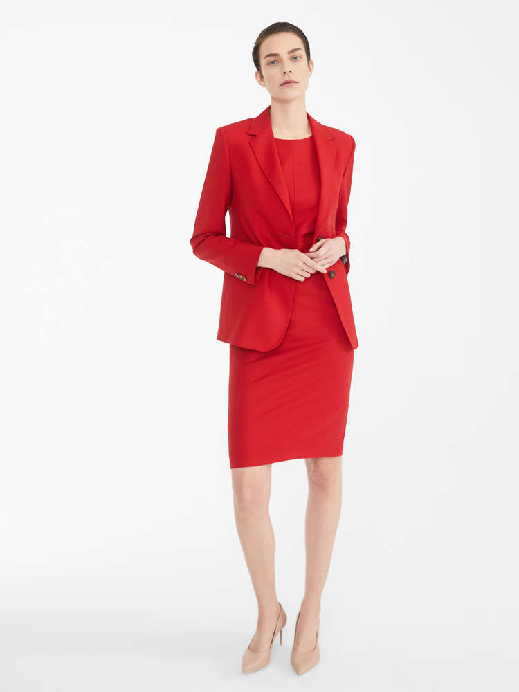 Wool twill dress