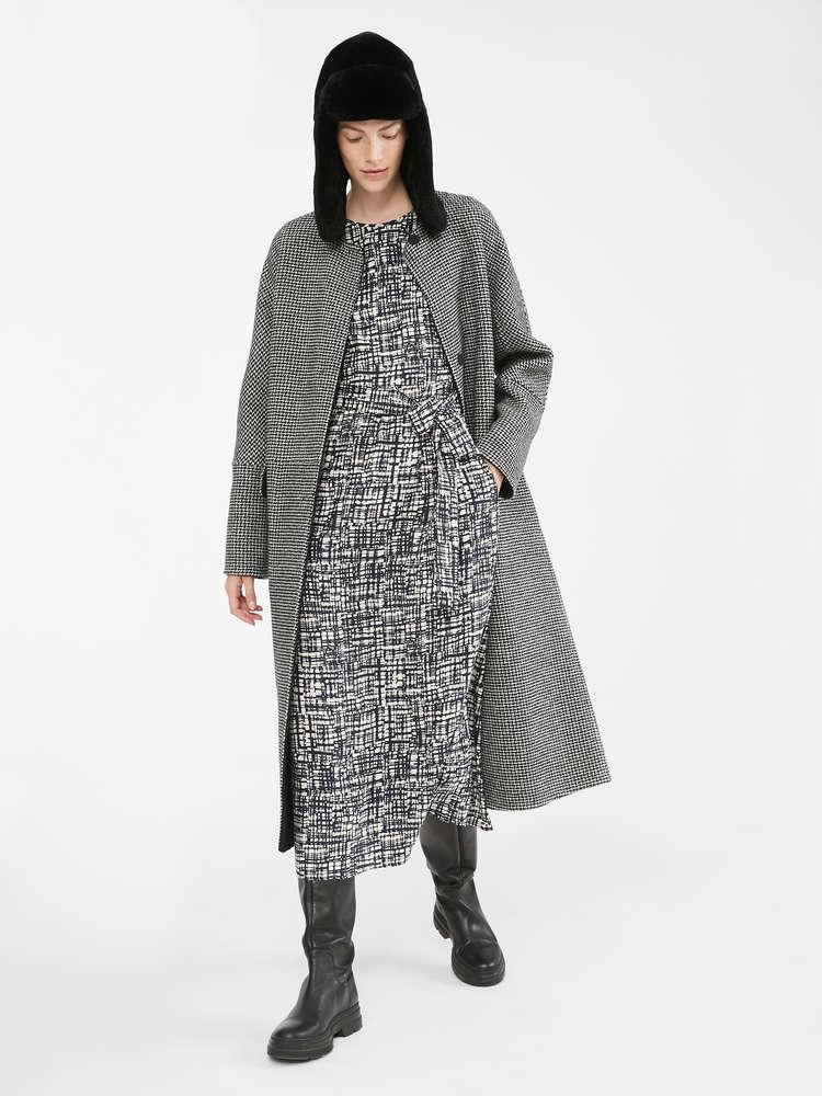 Wool, alpaca and silk reversible coat