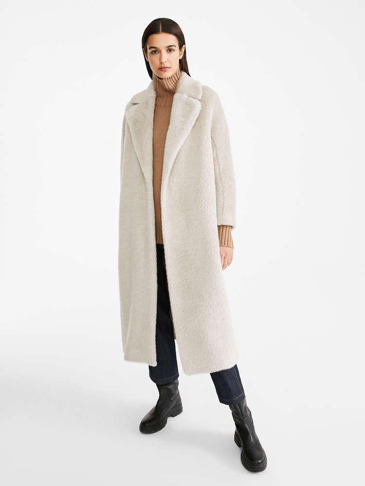 Alpaca, wool and cashmere coat