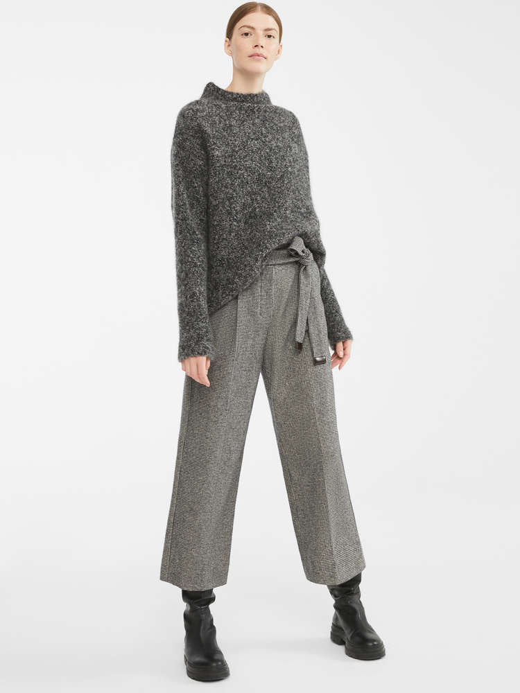 Cotton and wool flannel trousers