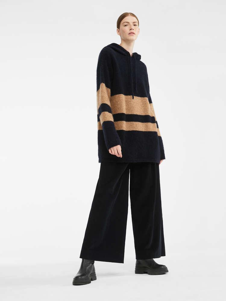 Mohair knit sweatshirt