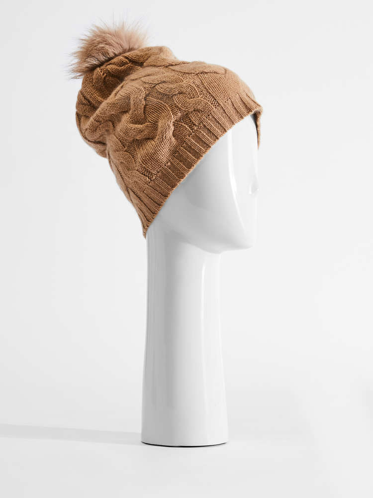Wool and cashmere knit hat