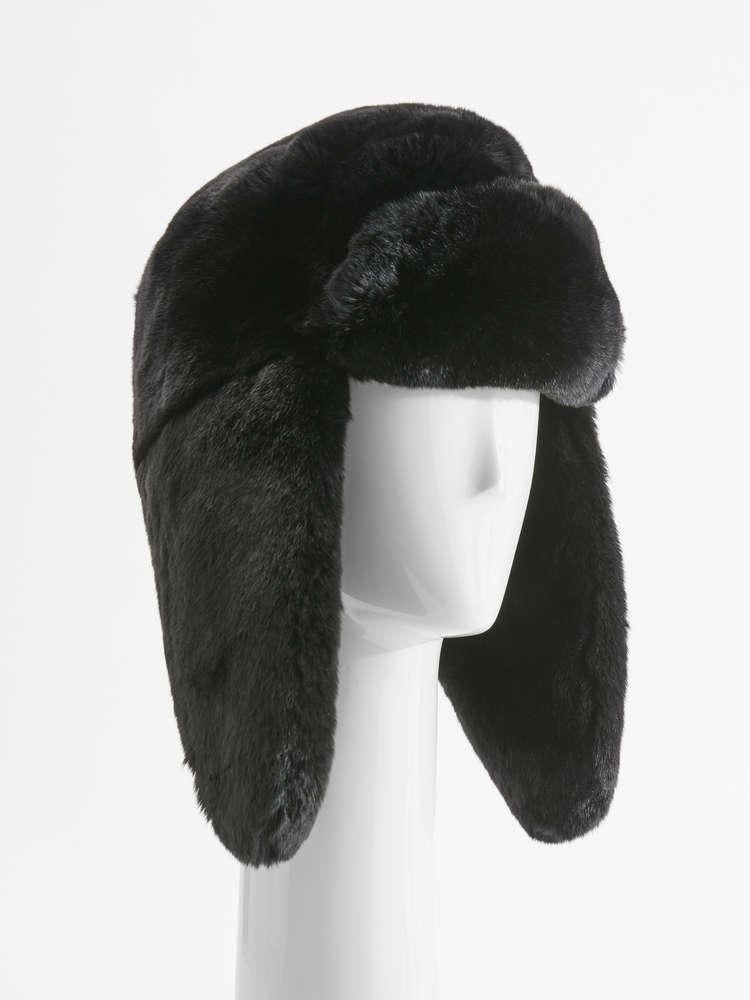 Effect fur ushanka hat