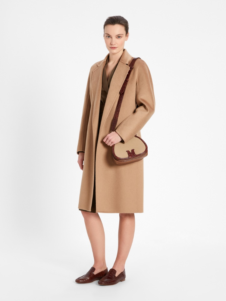 Double hand-stitched pure cashmere coat