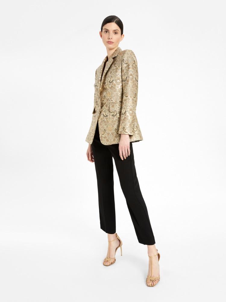 Jacquard brocade blazer