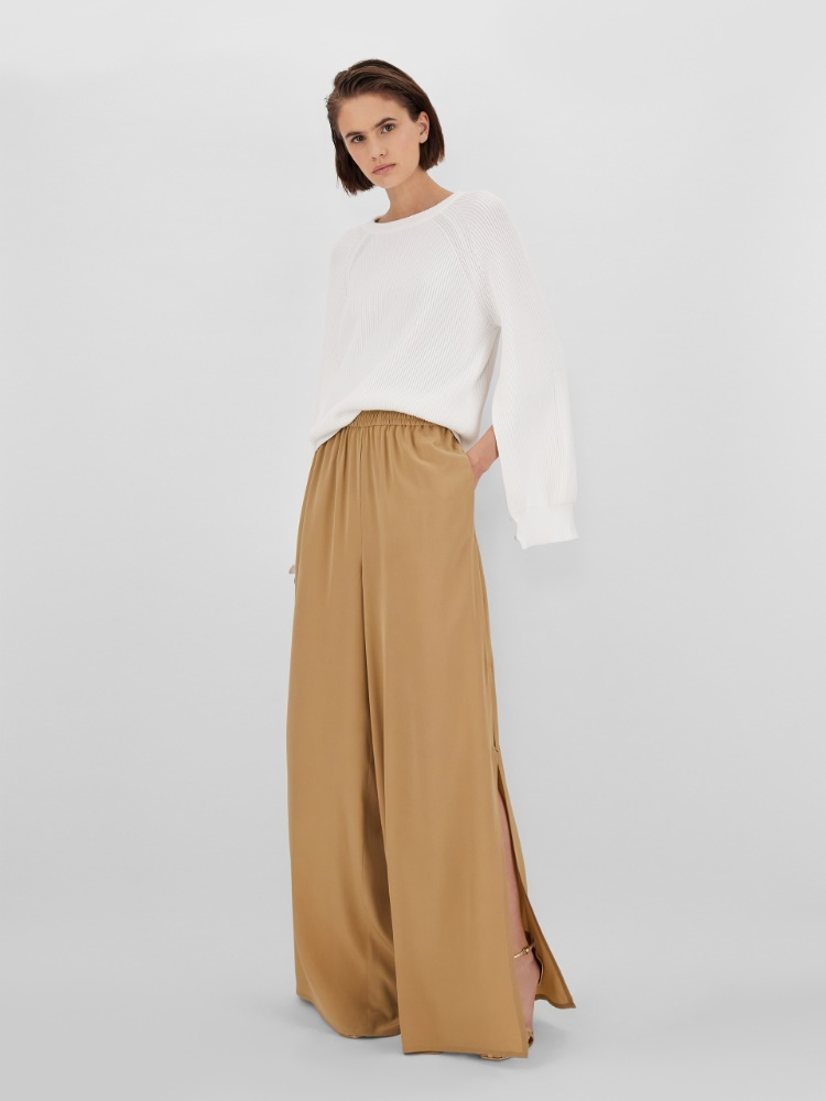 Crepe de chine trousers