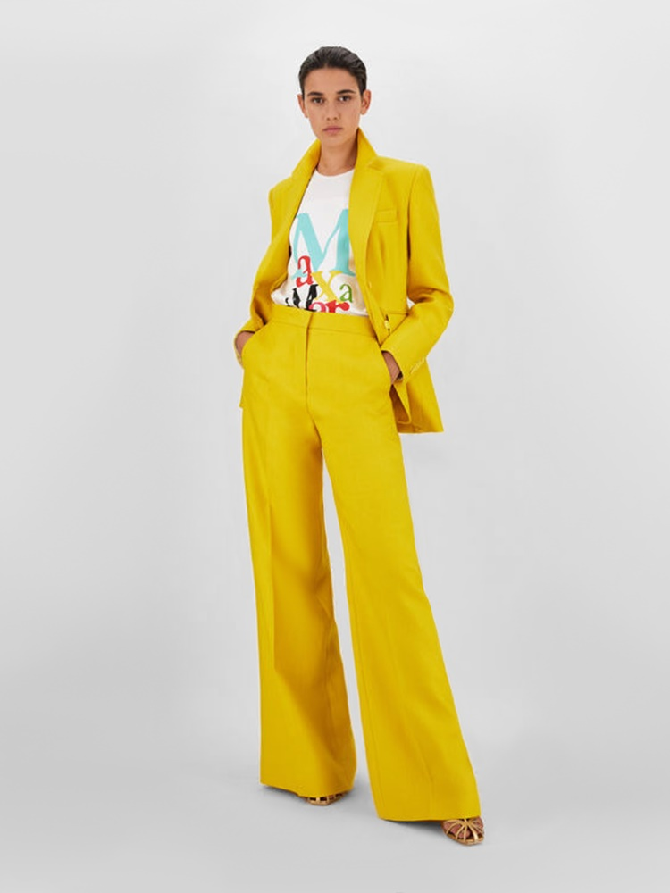 Linen gabardine trousers