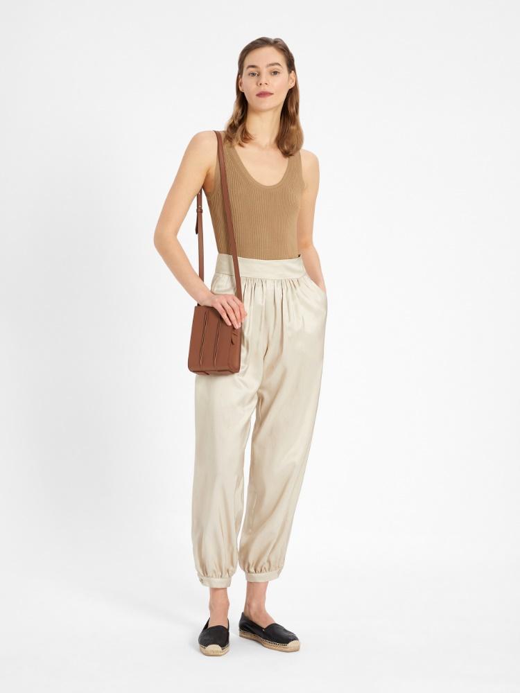 Pantalon en shantung de soie