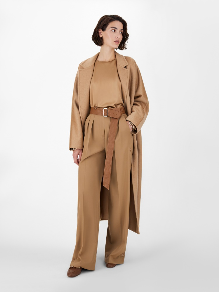 Pure wool gabardine trousers