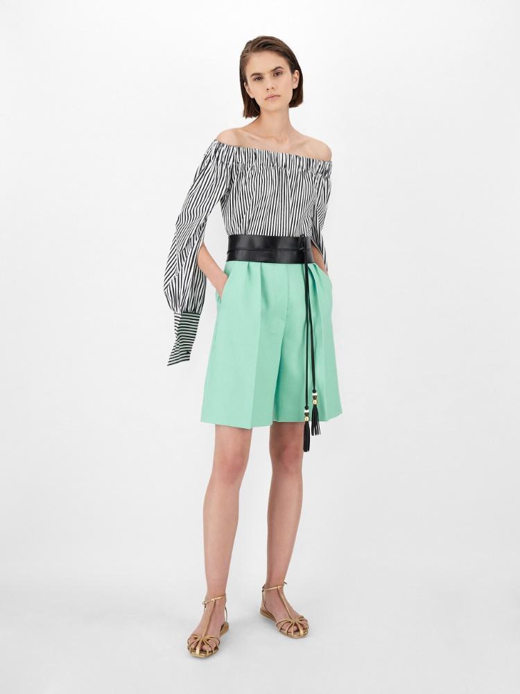 Linen gabardine shorts