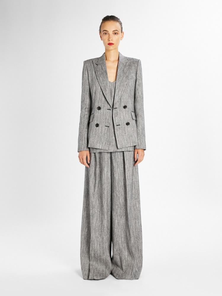 Silk and linen tweed top