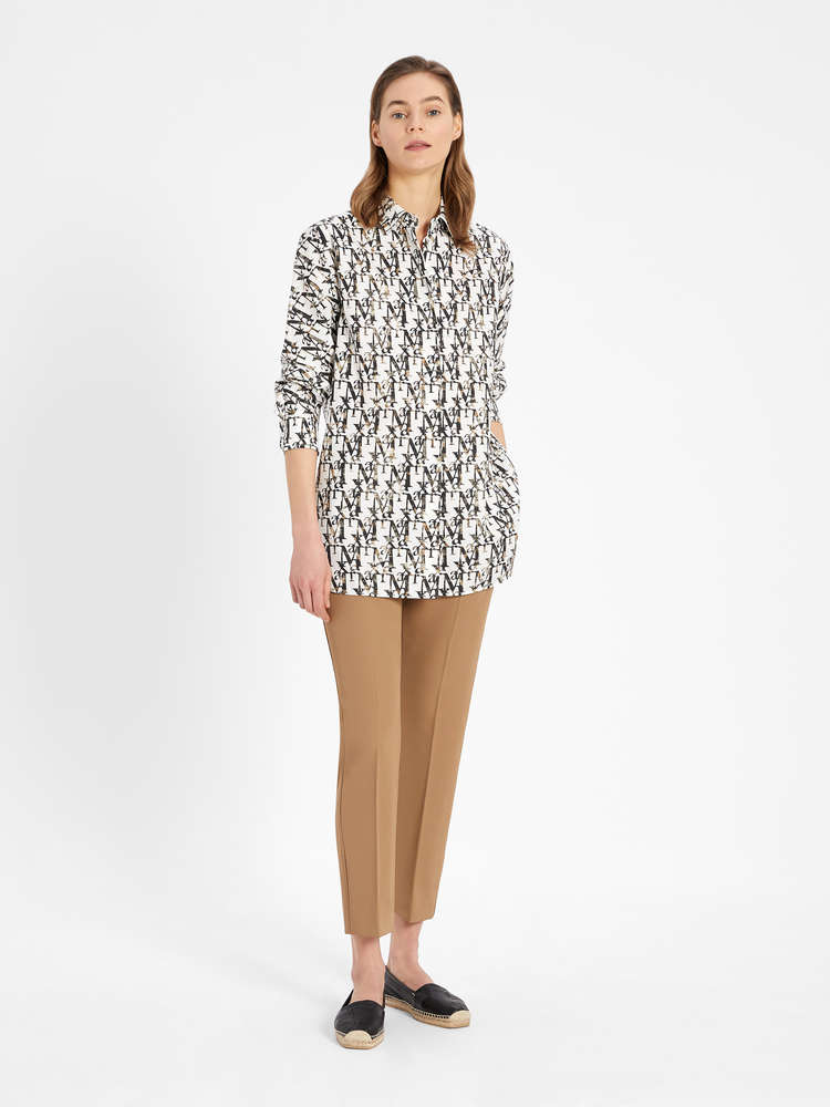 Printed cotton poplin shirt