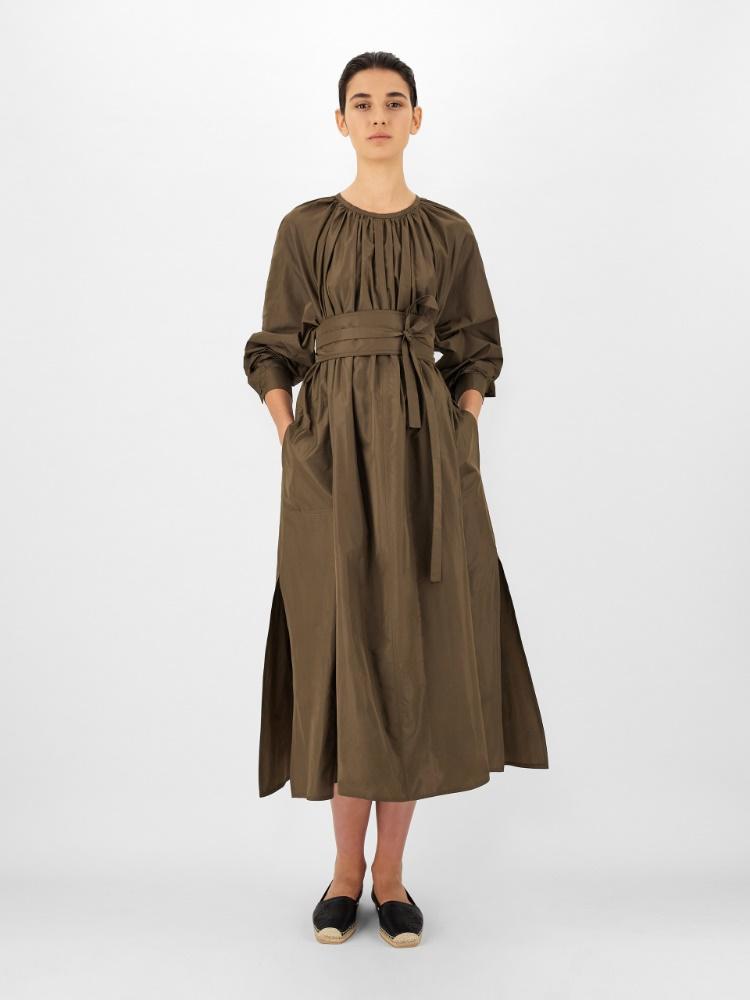 Silk blend taffeta dress