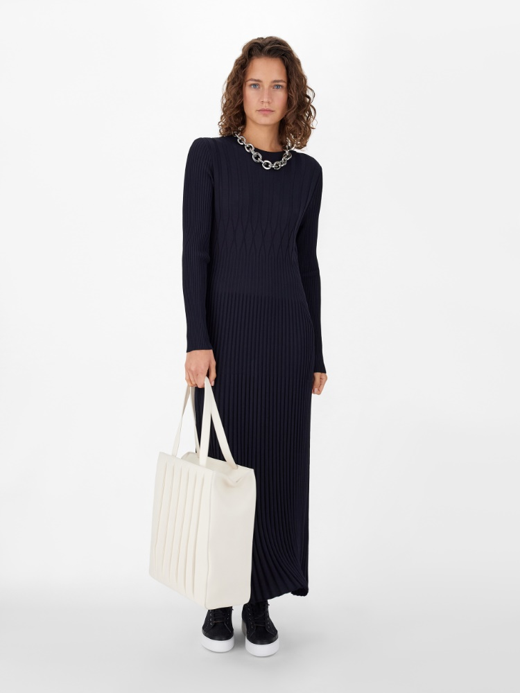 Viscose crêpe knit dress