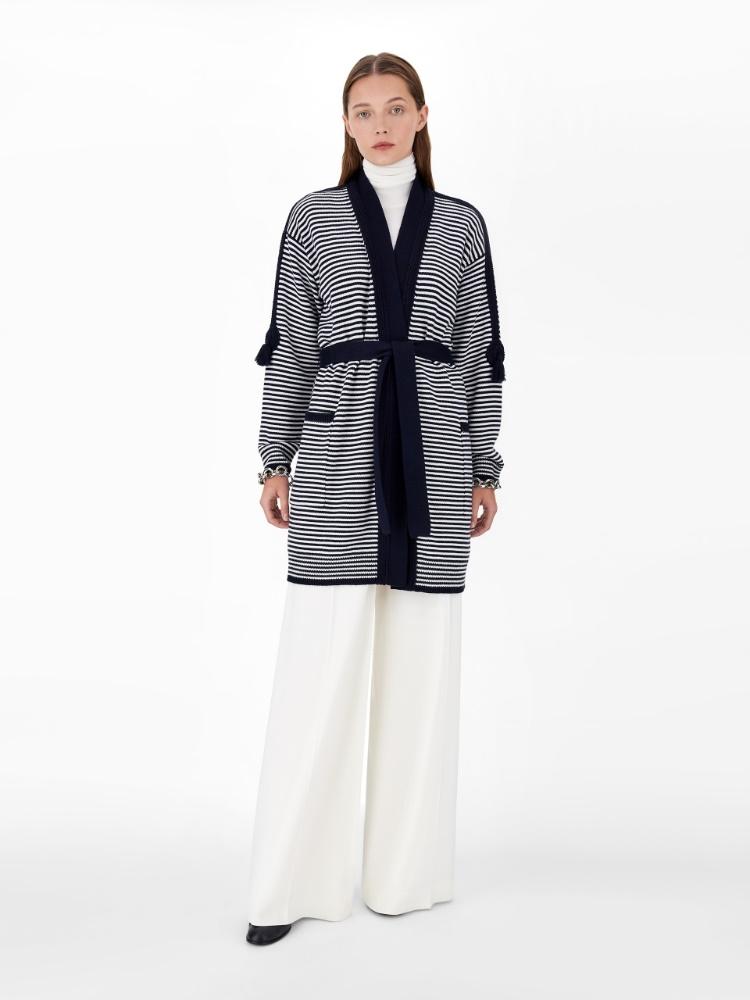 Pure wool yarn cardigan