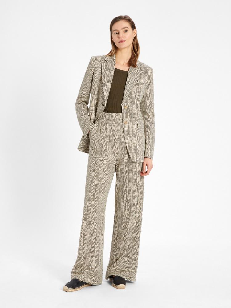 Linen jersey trousers
