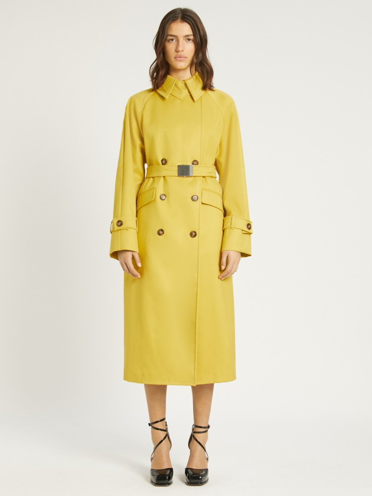 Water-repellent cotton trench coat