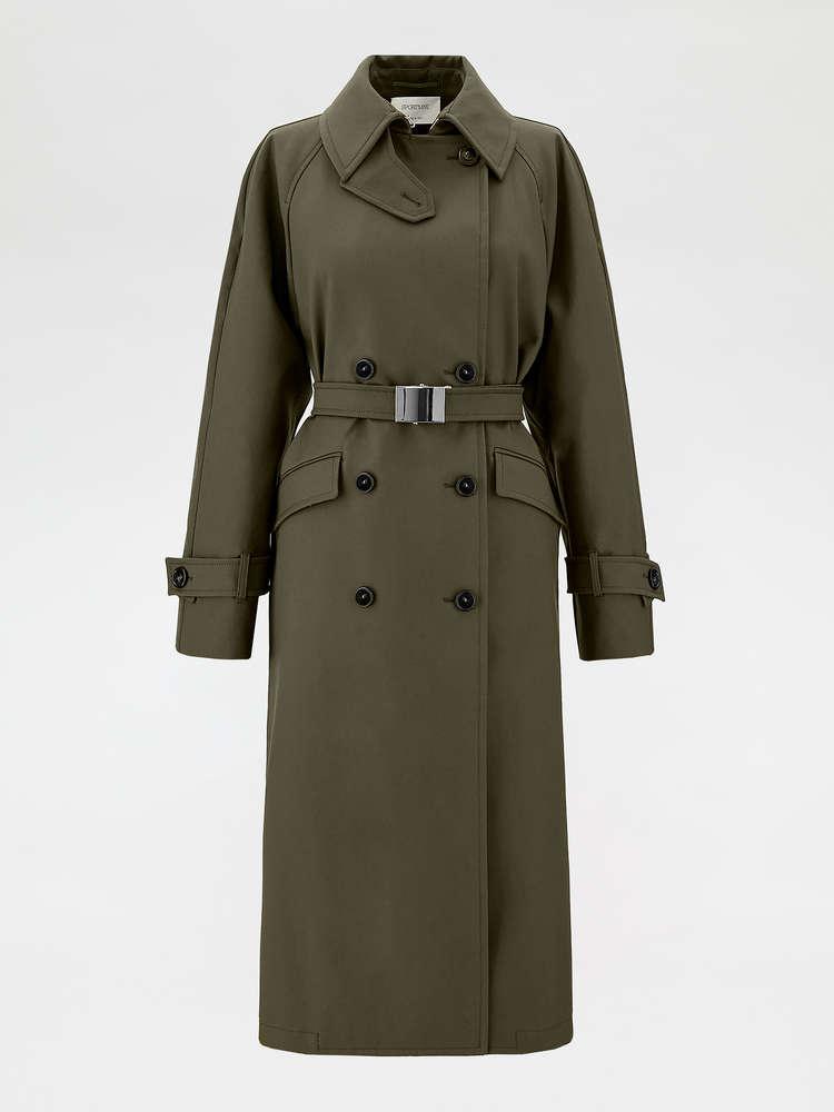Trench-coat en coton déperlant