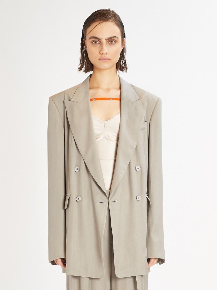 Oversized double-breasted blazer