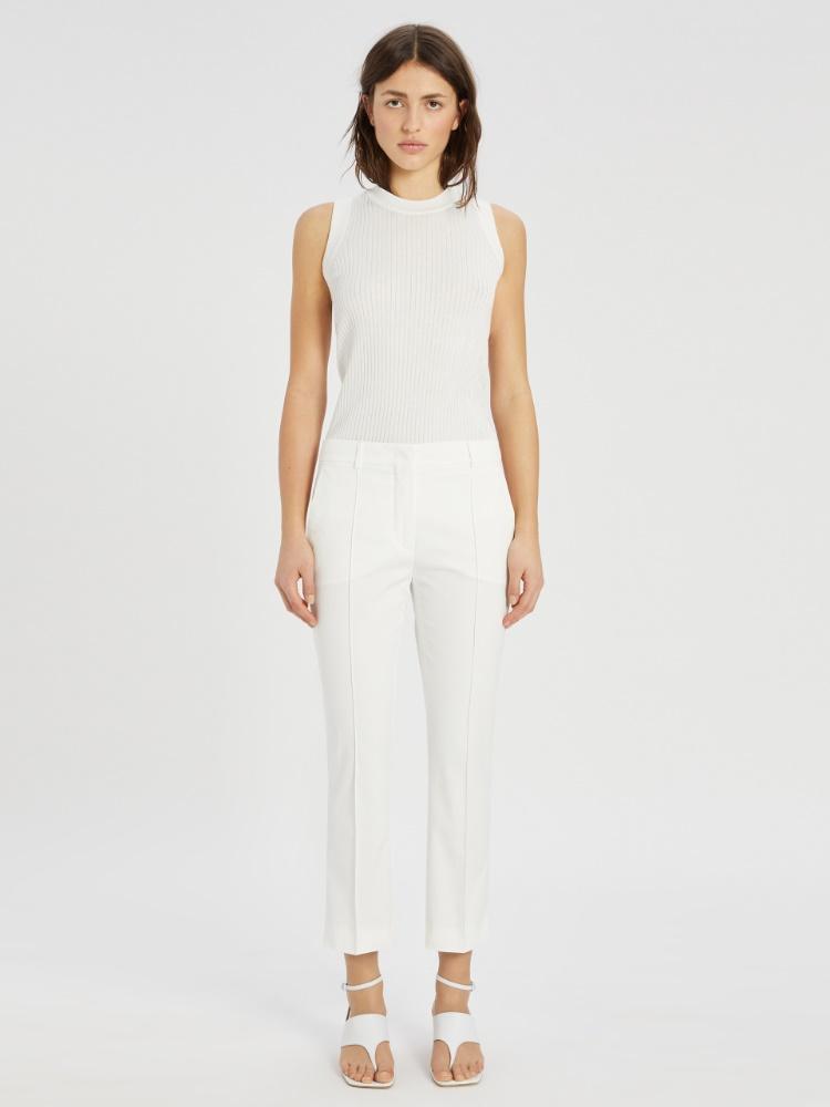 Pantalones de gabardina de algodón