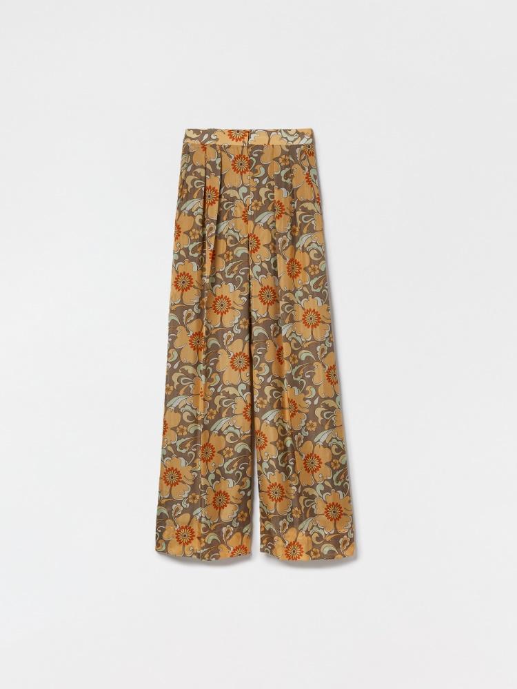 Pure habotai silk trousers