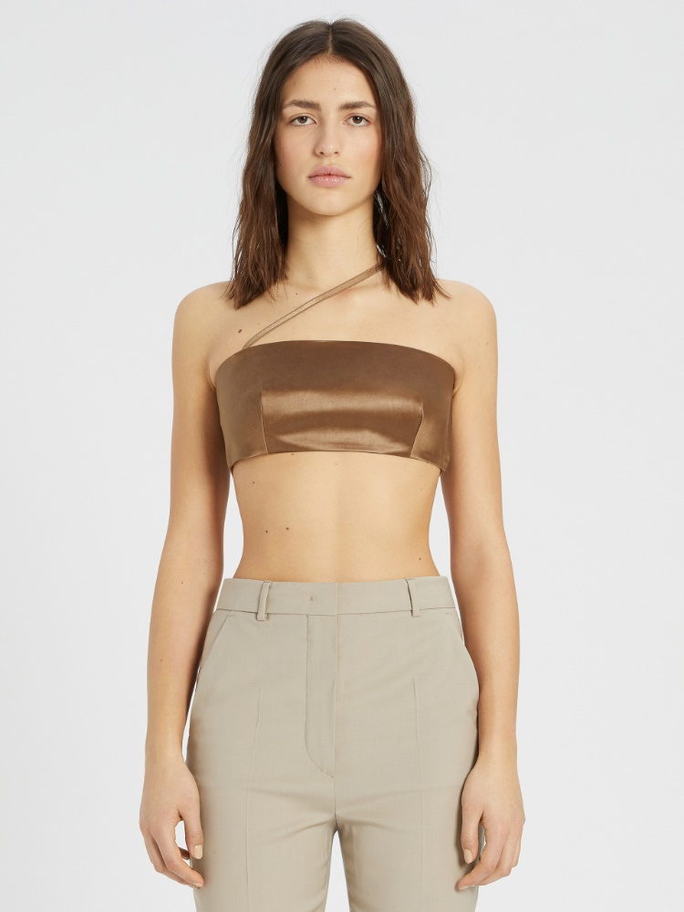 Asymmetric top with shoulder strap