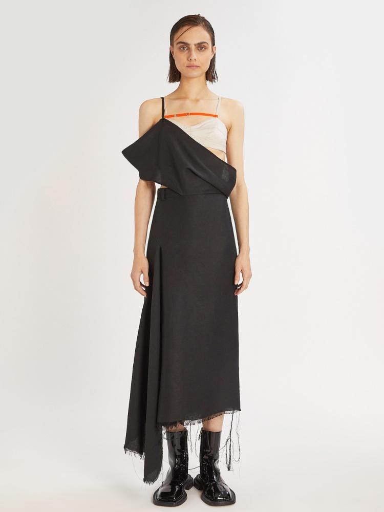 Asymmetric bra dress