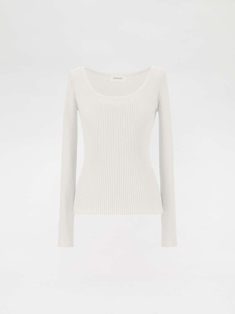 Slim-fit rib-knit sweater