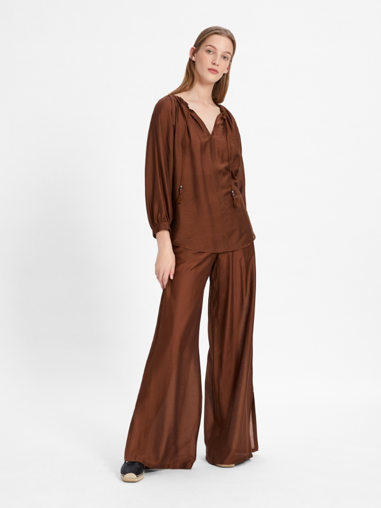 Silk and modal blouse