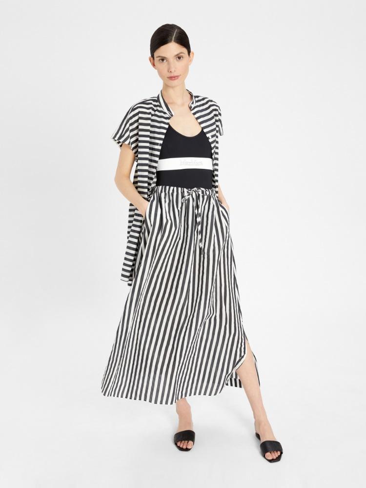 Cotton blend fabric dress