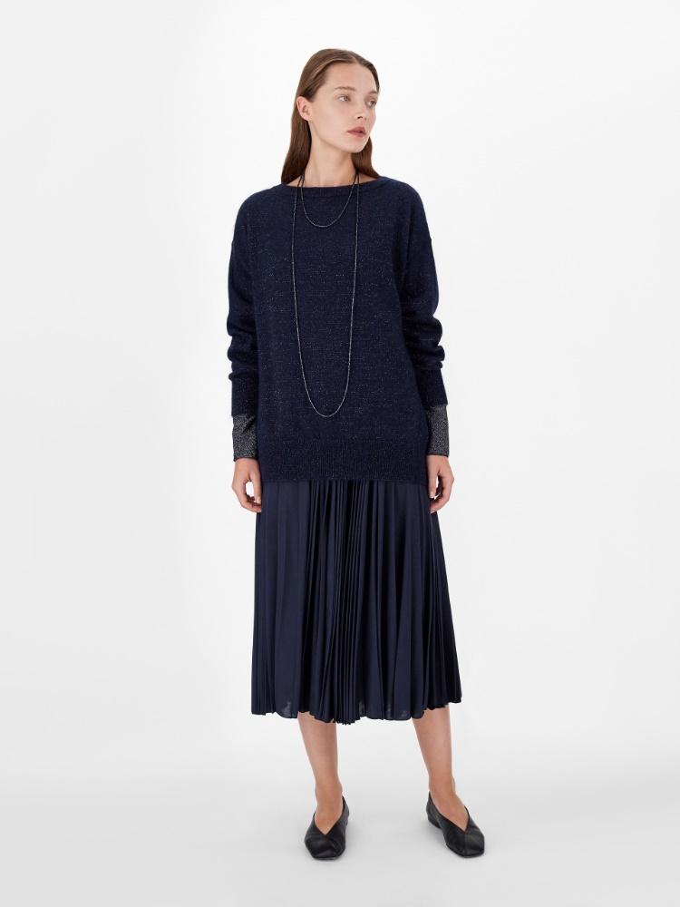 Mohair and lurex jumper