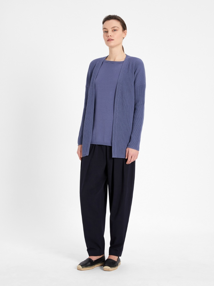 Top in cotton blend