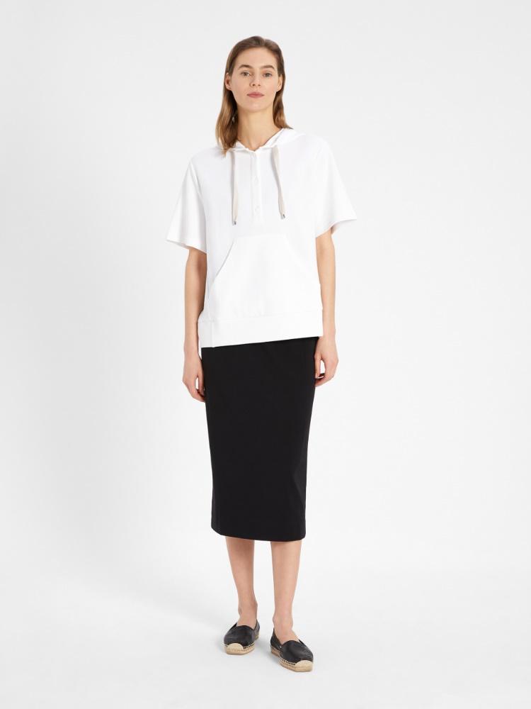 Cotton jersey skirt