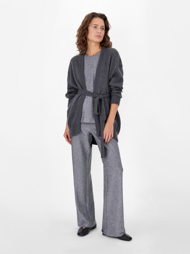 Lurex jersey trousers