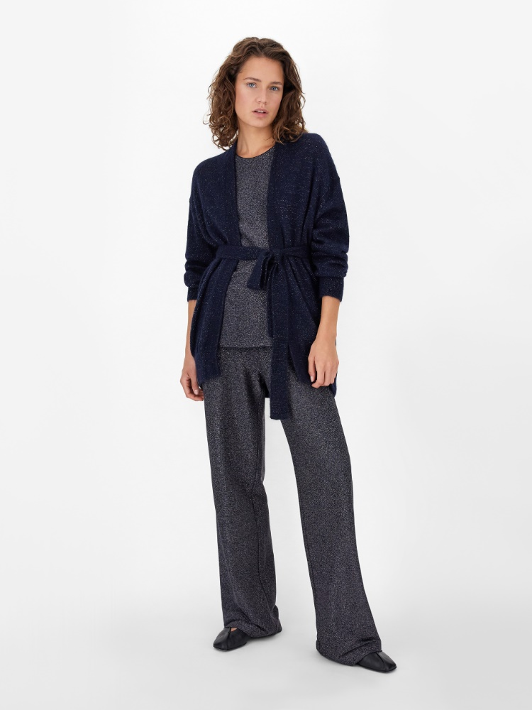 Lurex jersey trousers