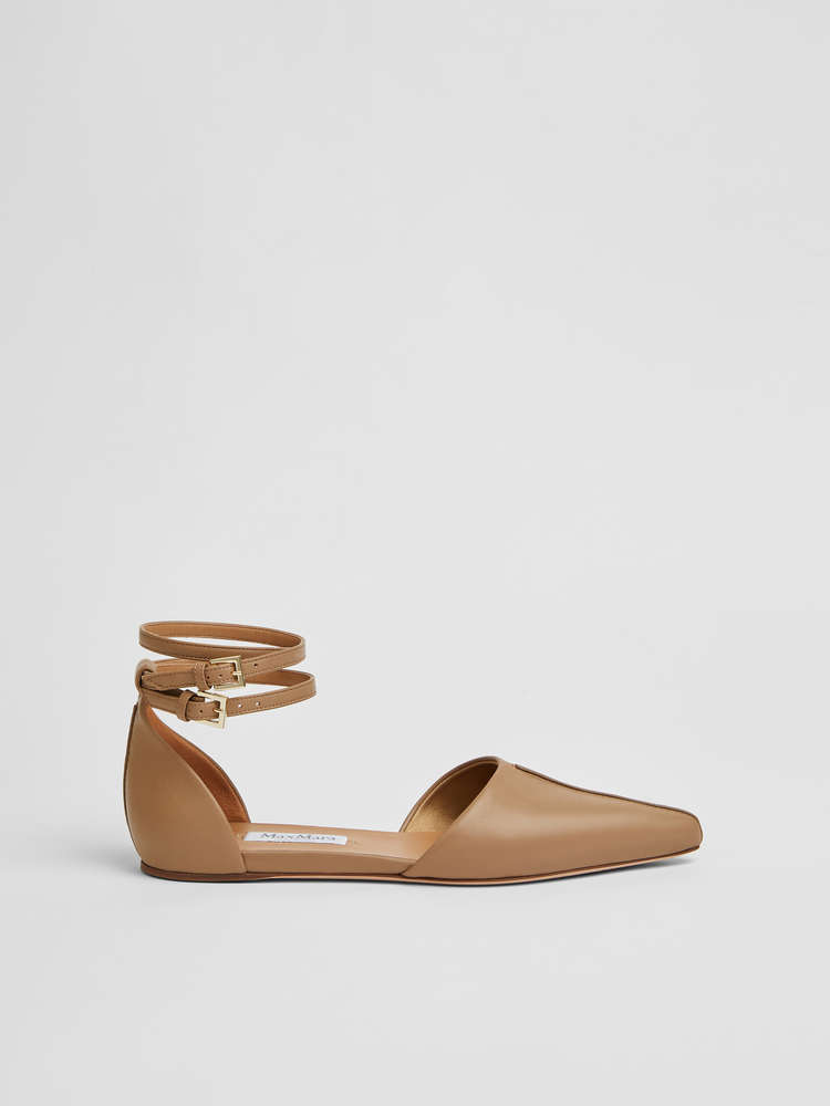 Nappa leather ballerinas
