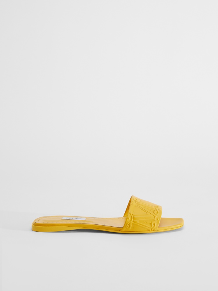 Nappa leather mule