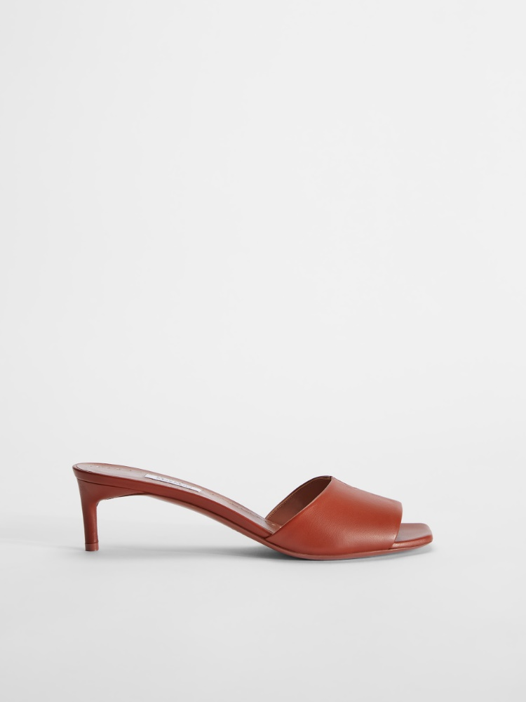 Nappa leather sandals