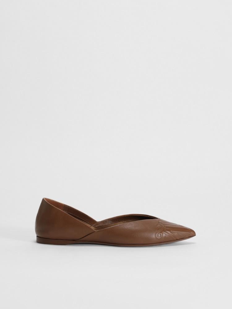 Nappa leather ballerinas