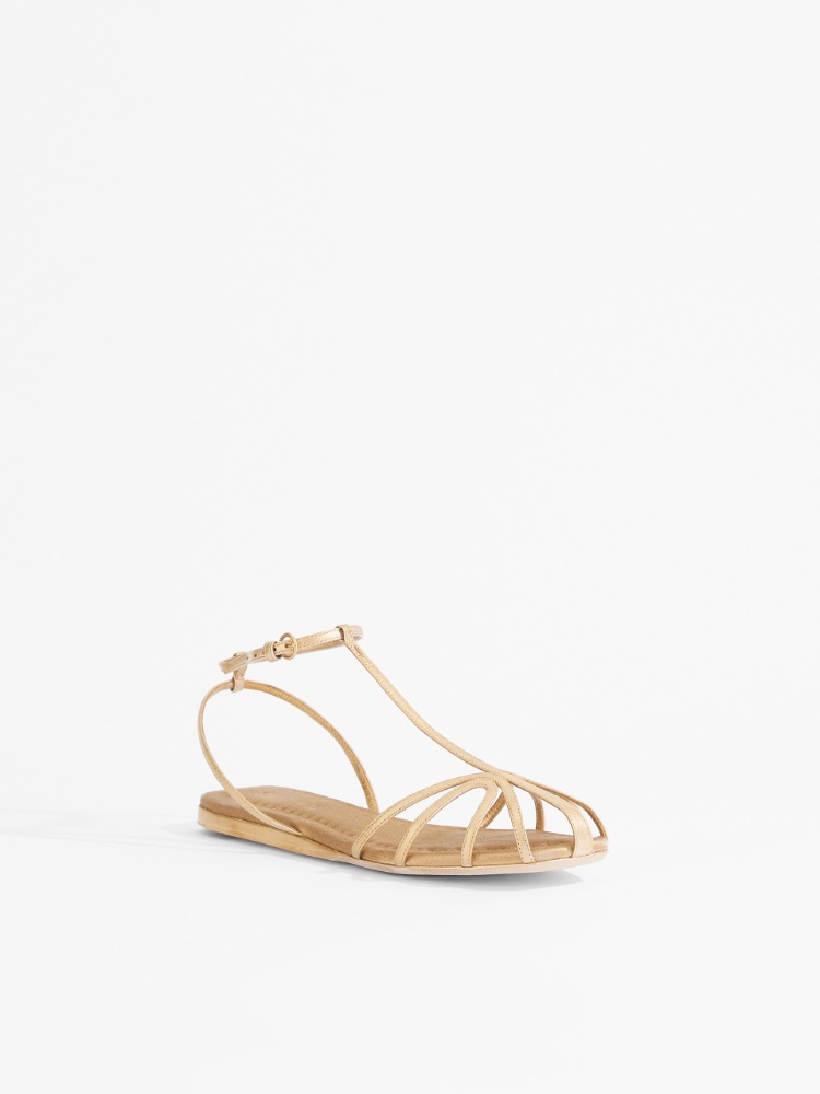 Laminated Nappa leather sandals