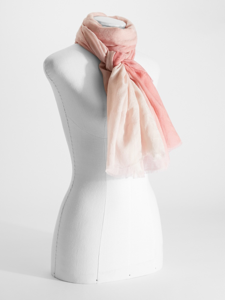 Silk and cotton stole