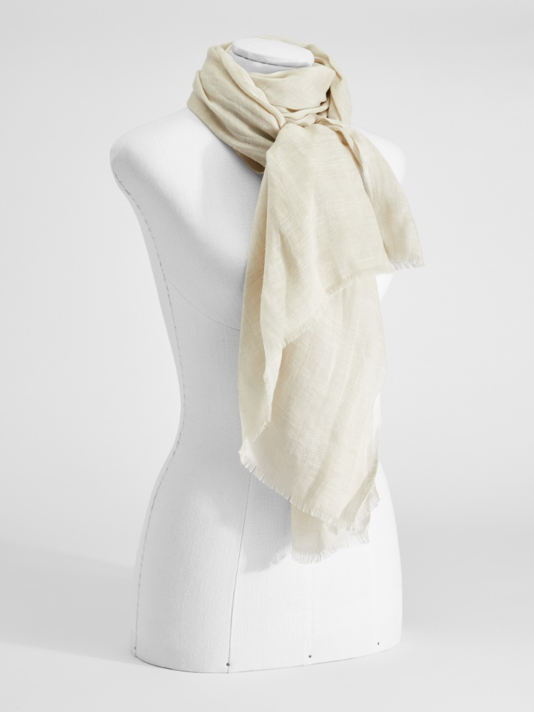 Cashmere, silk and linen stole
