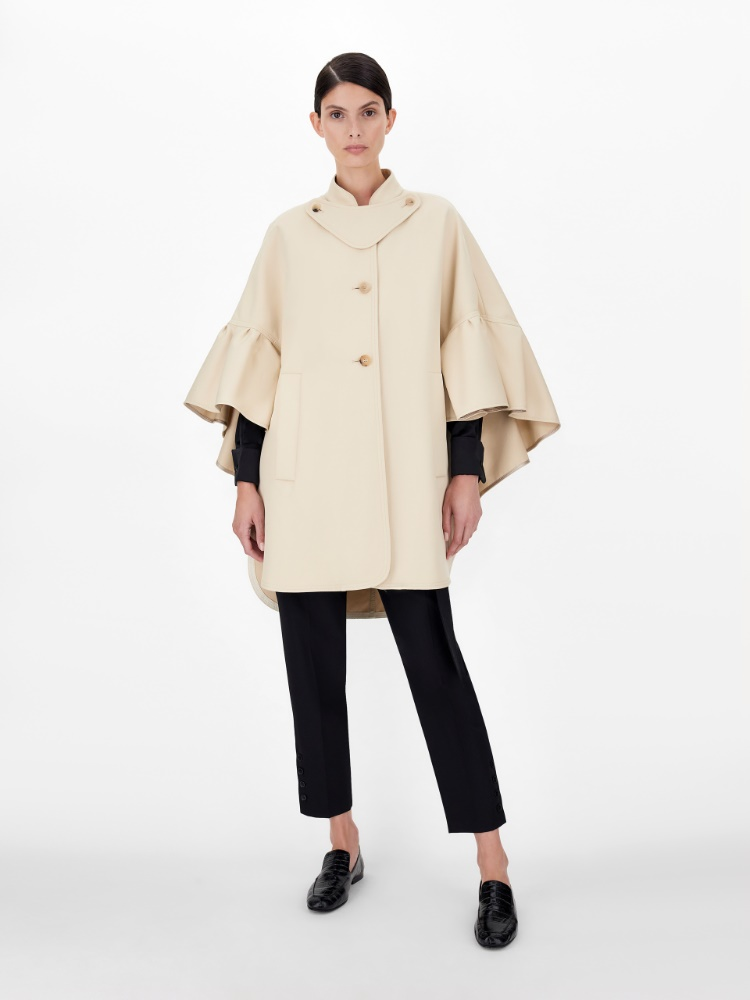 Cotton gabardine cape
