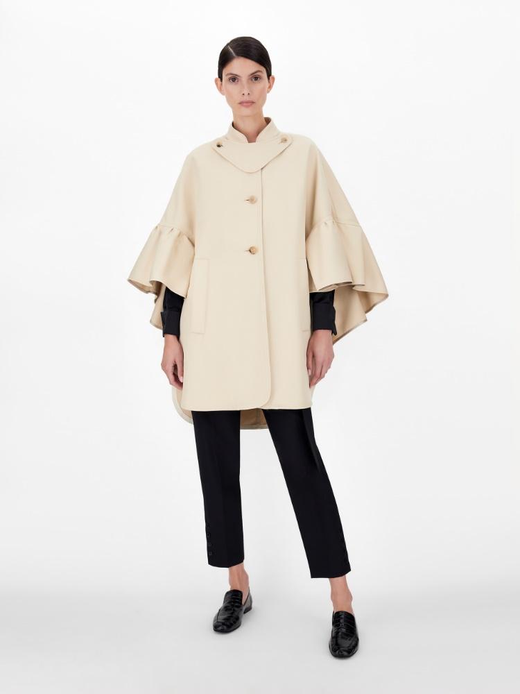Cotton gabardine cape