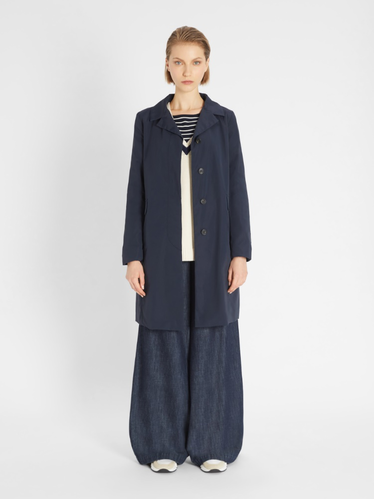 Cotton micro-faille coat
