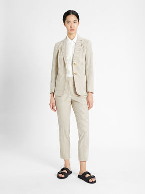 Linen and cotton blazer