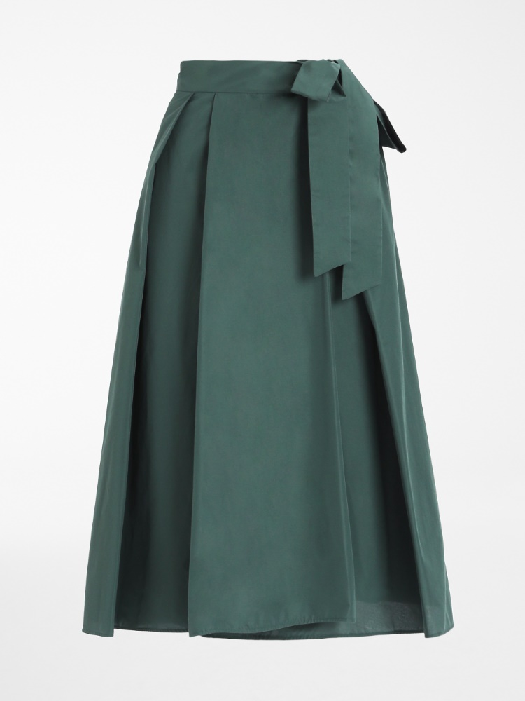 Cotton taffeta skirt