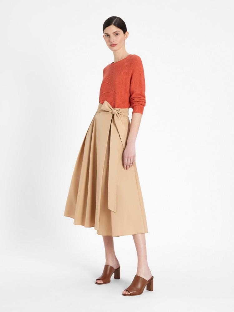 Cotton taffeta skirt