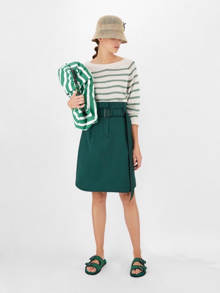 Cotton sateen skirt